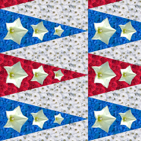 Red White and Blue penants fabric by leopardessmoon on Spoonflower - custom fabric