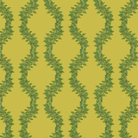 leafy garland fabric by meredithjean on Spoonflower - custom fabric