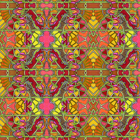 Deco Sunrise fabric by edsel2084 on Spoonflower - custom fabric