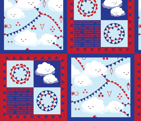 Weather Clouds fabric by bbsforbabies on Spoonflower - custom fabric