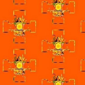 Mandala_On_Orange