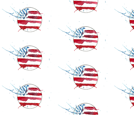 USA flag fabric by lindsaysatchelldesigns on Spoonflower - custom fabric