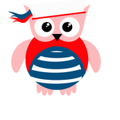 Patriotic Nautical Sailor Owl