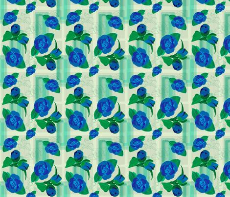 bluerose fabric by bussybuffu on Spoonflower - custom fabric