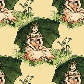 Kate Greenaway ~ Parasol Sweetling