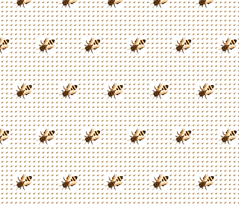 bees are back fabric by isabella_asratyan on Spoonflower - custom fabric