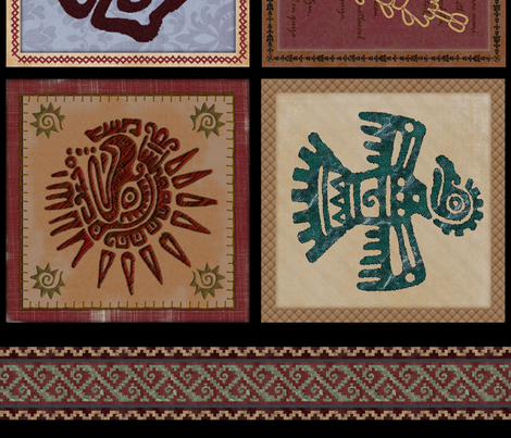 Mexico prehispanico fabric by hadasmx on Spoonflower - custom fabric