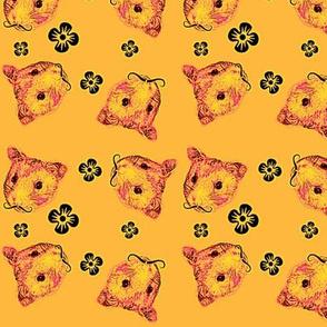 Mustachioed Hamster Tangerine
