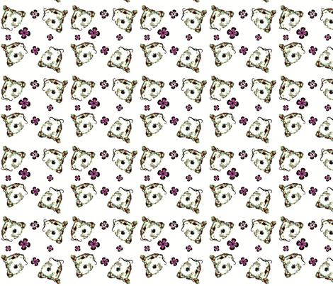 Mustachioed Hamster Multi fabric by margaretdaniero on Spoonflower - custom fabric
