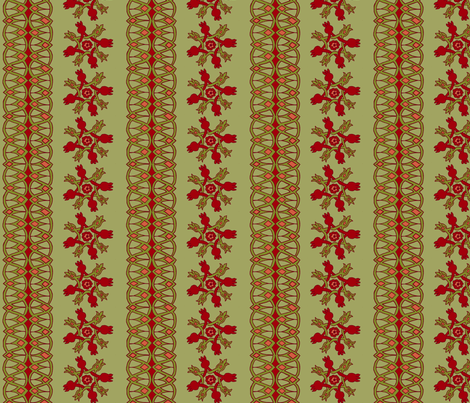 10th Century Persian Pomegranate Motifs - vertical fabric by rengal on Spoonflower - custom fabric