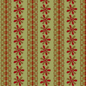 10th Century Persian Pomegranate Motifs - vertical