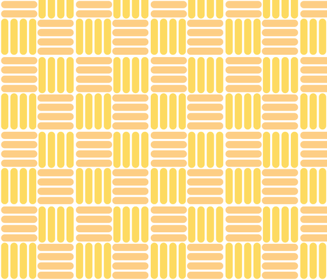 basket - yellow beige fabric by gingerme on Spoonflower - custom fabric