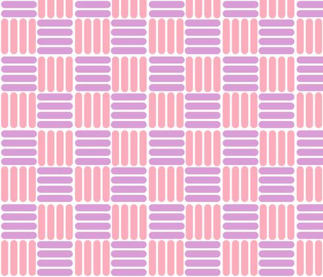 basket - pink purple fabric by gingerme on Spoonflower - custom fabric