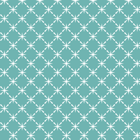 Turquoise Lattice || midcentury modern farm vintage retro kitchen chicken wire starburst fabric by pennycandy on Spoonflower - custom fabric