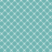 Turquoise Lattice || midcentury modern farm vintage retro kitchen chicken wire starburst