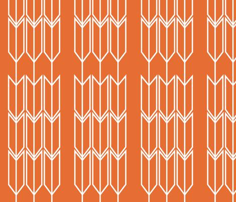 Orange_Arrow fabric by designedtoat on Spoonflower - custom fabric