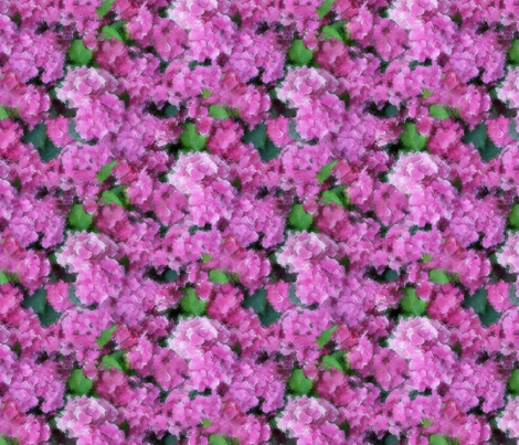 Hydrangea fabric by kociara on Spoonflower - custom fabric