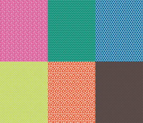Six tiny prints fabric by spacefem on Spoonflower - custom fabric