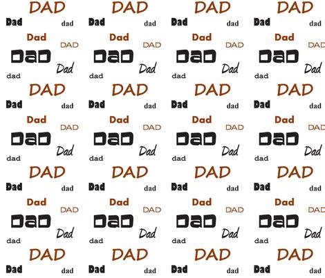 Dad Dad Dad fabric by merisander on Spoonflower - custom fabric