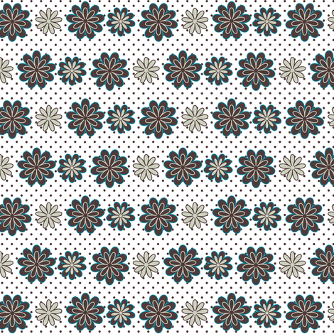 Wild for Daisies in White Background fabric by fridabarlow on Spoonflower - custom fabric