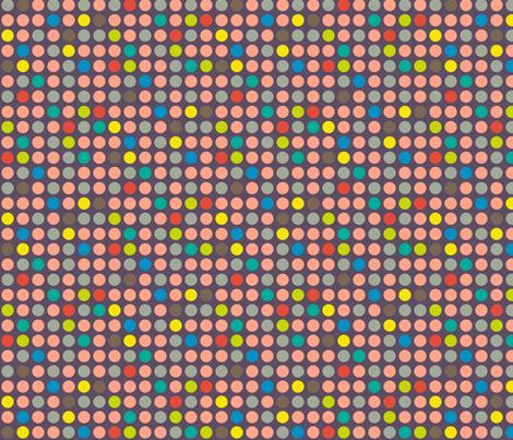 Game Dots Salmon fabric by modgeek on Spoonflower - custom fabric
