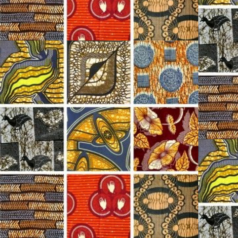Boho Africa Patchwork Large Fabric Zi Zi Spoonflower