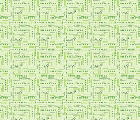 The Spice of Life - 4in (green) fabric by studiofibonacci on Spoonflower - custom fabric