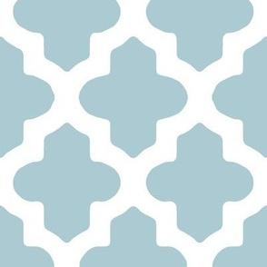 Moroccan Quatrefoil in Light Blue