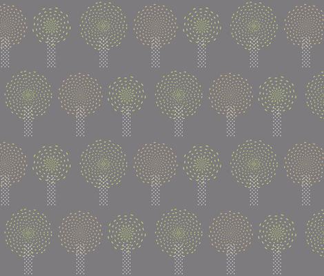 Pom Pom Trees fabric by pearl&phire on Spoonflower - custom fabric