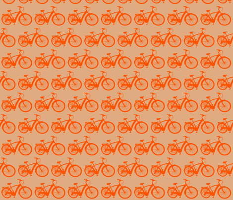 Orange Bicycle fabric by meaganrogers on Spoonflower - custom fabric