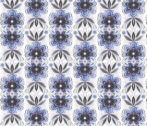 flower fabric by antoniamanda on Spoonflower - custom fabric