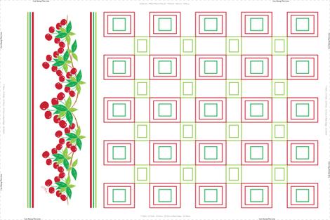 Sweet Cherry Tea Towel fabric by jjtrends on Spoonflower - custom fabric