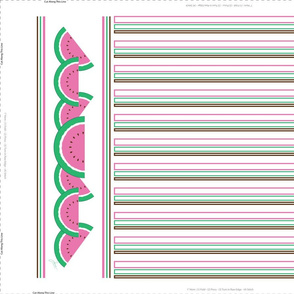 Pink Watermelon Tea Towel