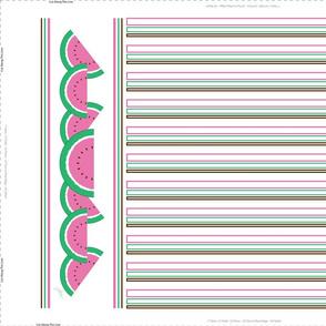 Pink Watermelon Tea Towel