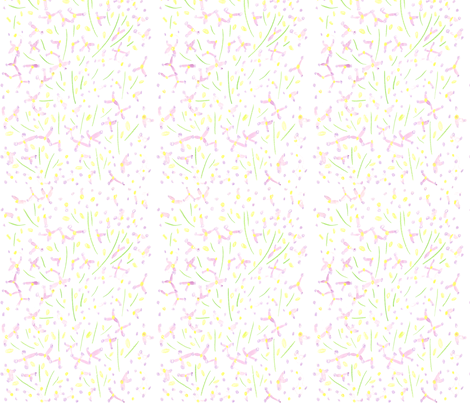 flower garden - violet fabric by gingerme on Spoonflower - custom fabric