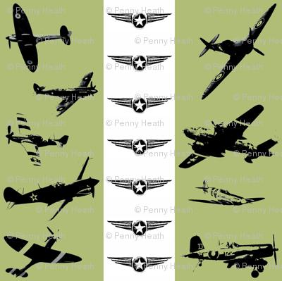 Retro Aviator Olive Stripe