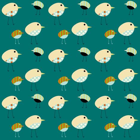Fabric Birds - Harper fabric by giddystuff on Spoonflower - custom fabric