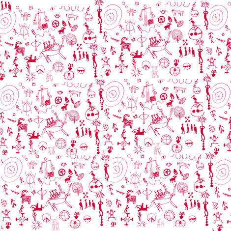 petroglyphs fabric by akua on Spoonflower - custom fabric