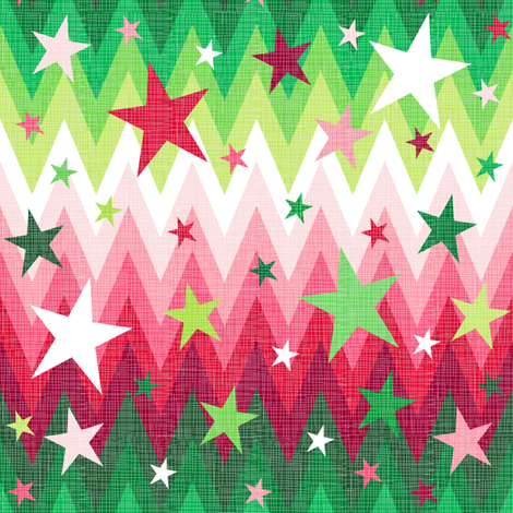Maddox's ombre Christmas stars fabric by veritymaddox on Spoonflower - custom fabric
