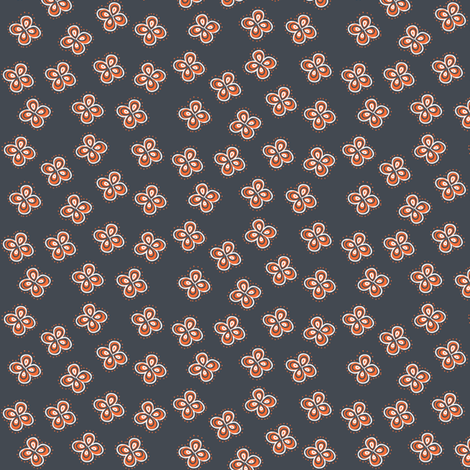 Orange Clover fabric by lkglioness on Spoonflower - custom fabric