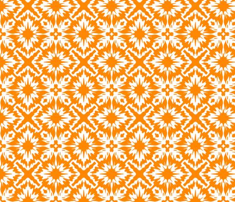 Orange splatter fabric by meaganrogers on Spoonflower - custom fabric