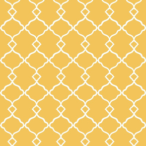 Ogee Trellis Yellow