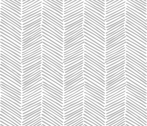 Freeform Arrows Large in gray on white fabric by domesticate on Spoonflower - custom fabric