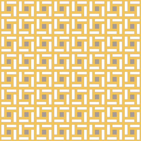 Square Trellis Gray Saffron fabric by lulabelle on Spoonflower - custom fabric