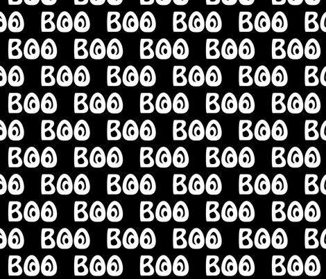 Boo fabric by jjtrends on Spoonflower - custom fabric