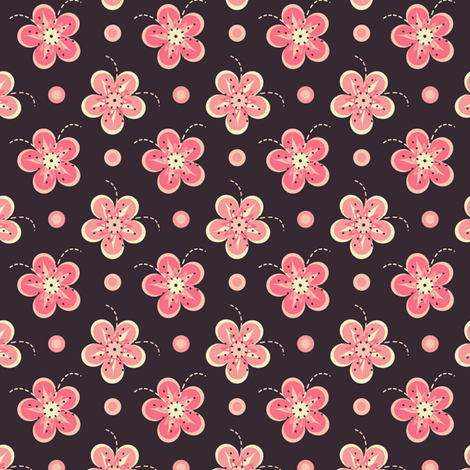 Pink Asian Orchids fabric by eppiepeppercorn on Spoonflower - custom fabric