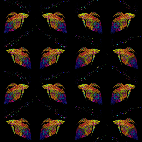 Rainbow Fish School (with bubbles) fabric by dovetail_designs on Spoonflower - custom fabric