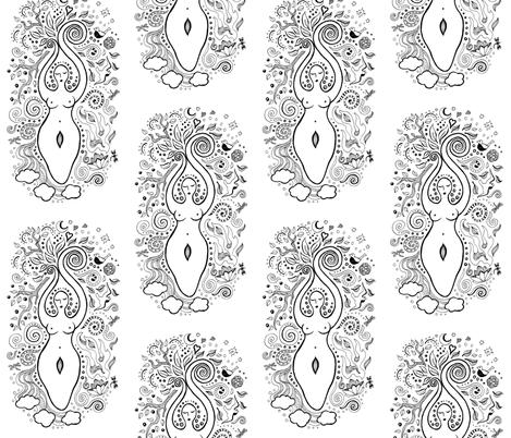 Goddess fabric by angelwolf on Spoonflower - custom fabric
