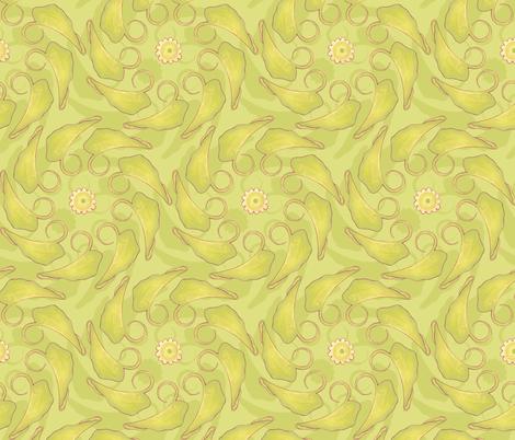 Kristi - Leaves fabric by katrinazerilli on Spoonflower - custom fabric