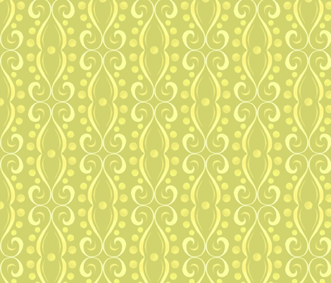 Kristi - Swirl - Green fabric by katrinazerilli on Spoonflower - custom fabric